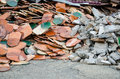 Pile of tile at construction site Royalty Free Stock Photo