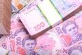 Pile of ukrainian money grivna Royalty Free Stock Photo