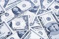 Pile of US dollar bills Stock Photos