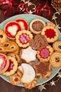 Pile of various christmas cookies