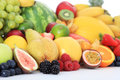 Pile of various fruits Stock Photos