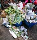 Pile of vegetable throw away as garbage. Royalty Free Stock Photo