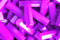 A pile of violet hexagon details
