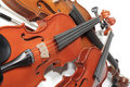 Pile of violins Stock Images
