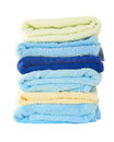 Pile of washed towel towels isolated on white background Stock Image