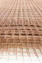 A pile of welded wire mesh in construction site Stock Photography