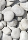 Pile of white stones for background or texture Stock Photo