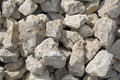 Pile of white stones at shiny day Stock Image
