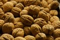 Pile of whole walnuts Royalty Free Stock Photo