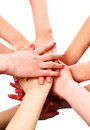 Pile of woman hands Royalty Free Stock Photo