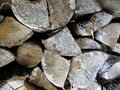 Pile of wood close up from a for fire Stock Photos