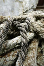 Pile of worn rope Stock Image