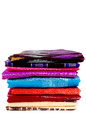 Pile woven silk sarong bugis Indonesia Royalty Free Stock Photos