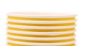 Pile of yellow paper coffee cup close up whole background Stock Image