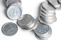 Pile of 1 yen coins japanese money. Royalty Free Stock Photo