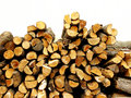 Piled firewood Stock Image