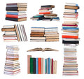 Piles of books Stock Photo