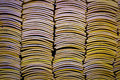 Piles of Chinese roof tiles Royalty Free Stock Photo