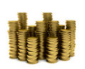 Piles of coins Royalty Free Stock Image