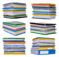 Piles de papiers et de documents Images stock