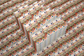 Piles of euro banknotes rendered with blender d Stock Images