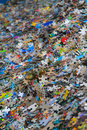 Piles of jigsaw pieces Royalty Free Stock Photo
