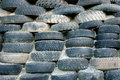 Piles of old tires Royalty Free Stock Photos