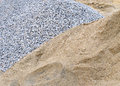 Piles sand and gravel for construction Stock Images