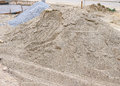 Piles sand and gravel for construction Royalty Free Stock Photography