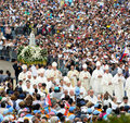 Pilgrimage - Our Lady of Fatima, Cardinals, Christian Faith, Devotee Crowd
