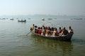 Pilgrims at Allahabad Stock Photo