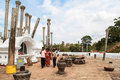Pilgrims in anuradhapura srilanka this photo was taken on september th is an ancient city located at a distance of km from Royalty Free Stock Image