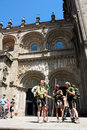 Pilgrims on the Camino de Santiago Royalty Free Stock Images