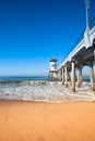 Pilier de Huntington Beach Image stock