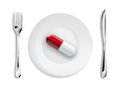 Pill on the dish Stock Photo