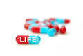 Pill of life extension anti aging concept Royalty Free Stock Photos