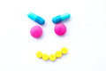 Pill Smile Royalty Free Stock Image