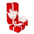Pillar of boxes with presents Stock Photography