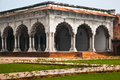 Pillar gallery in agra uttar pradesh india exterior of fort Royalty Free Stock Photo