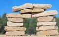 Pillar of stone Royalty Free Stock Photo