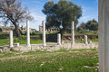 Pillars agora ancient city side antalya turkey Stock Photo