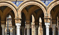 Pillars and arches of plaza the espana seville spain Royalty Free Stock Images