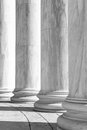 Pillars black and white in a row Royalty Free Stock Photo