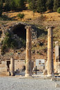 Pillars in ephesus ancient near celcuk turkey Royalty Free Stock Photography
