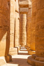 Pillars of the great hypostyle hall in karnak temple egypt Stock Image