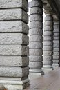 Pillars image taken of a row of in oslo norway Stock Photo
