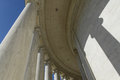 Pillars at jefferson memorial in washington dc Stock Image