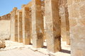 Pillars at the Mortuary Temple of Hatshepsut. Royalty Free Stock Photo