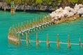 Pillars in the sea Royalty Free Stock Photo