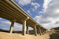 Pillars of viaduct on highway in croatia Stock Images